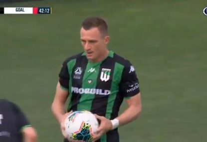 Besart Berisha scores first half double in 200th A-League match