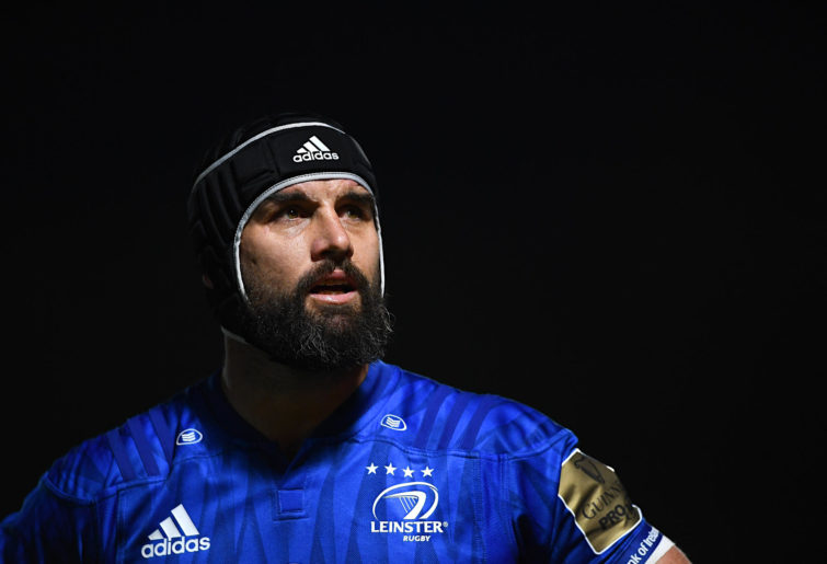 Scott Fardy playing for Leinster