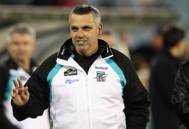 Port Adelaides' coach Mark Williams