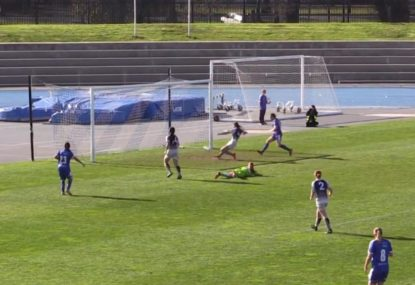 Local defender gets the luckiest of breaks as horrific own goal... is disallowed