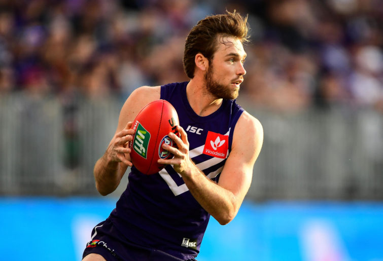 Joel Hamling of the Dockers in action