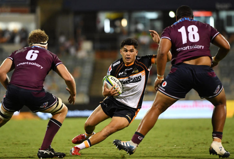 Noah Lolesio of the Brumbies during the round one Super Rugby match