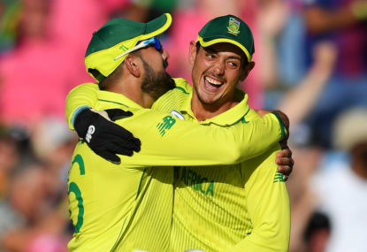 South Africa vs Australia: Second ODI, international cricket live scores