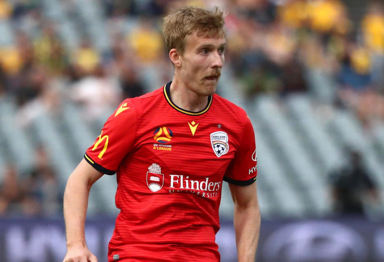 Ben Halloran in action for Adelaide United