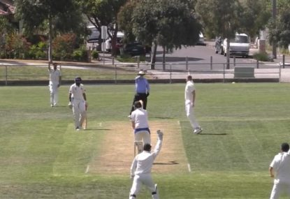 Lightning fast umpire throws up the finger before  bowler even appeals