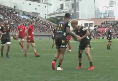 Damian McKenzie gets his reward after unselfish act from teammate