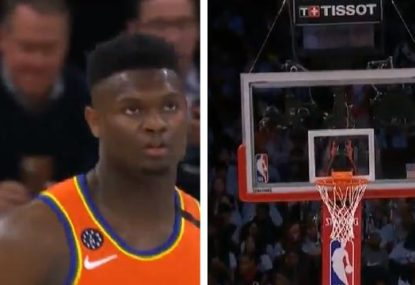 Zion Williamson's savage dunk literally breaks the backboard