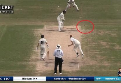 NSW quick submits contender for the worst ball of the decade