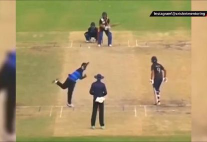 What on earth would you call this Indian batsman's utterly absurd shot?