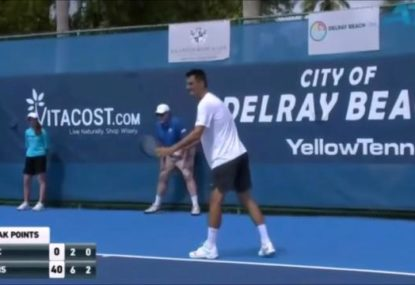 This has to be Bernard Tomic's most farcical moment yet