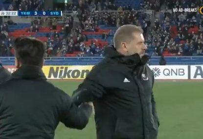 Ange Postecoglou's Yokohama puts on a clinic to smash Sydney FC
