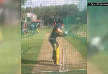 Schoolboy nets bowler has the audacity to bounce Steve Smith
