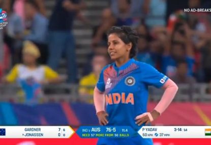 Indian spinner misses out on an epic hat-trick by the barest of margins