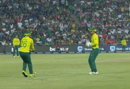 South Africa's catching shambles in heaviest T20 defeat