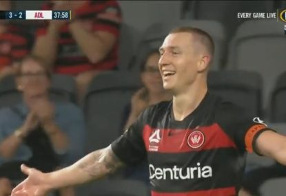 Western Sydney and Adelaide put on a first-half goal-fest