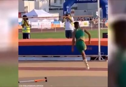 One-legged high jumper's extraordinary leap goes viral