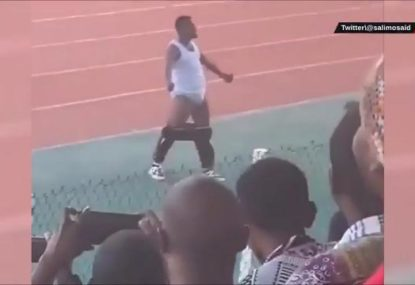 Coach cops 6-month suspension for the most bizarre victory celebration you'll ever see