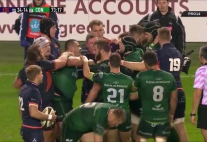 Wild scenes as THREE brawls break out within five minutes during Pro14 grudge match