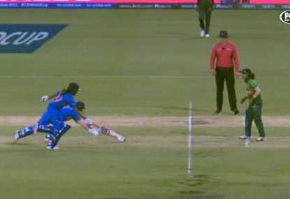 Cricket meets racing as horrendous mix-up ends in a run out