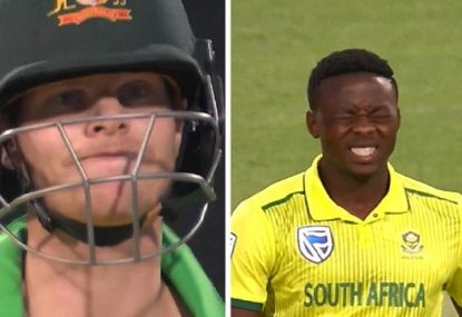 Steve Smith rides his luck as Kagiso Rabada knocks him over... on a no-ball