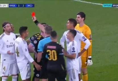 Champions League drama as controversial goal and dubious red card secure Man City comeback win