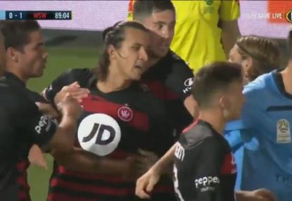 Daniel Georgievski brain snap earns him a red card in Sydney derby