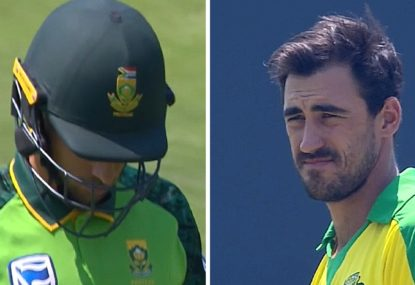 South African debutant has the worst start imaginable to his ODI career