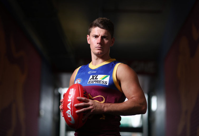 Dayne Zorko poses during the Brisbane Lions AFL team photo day