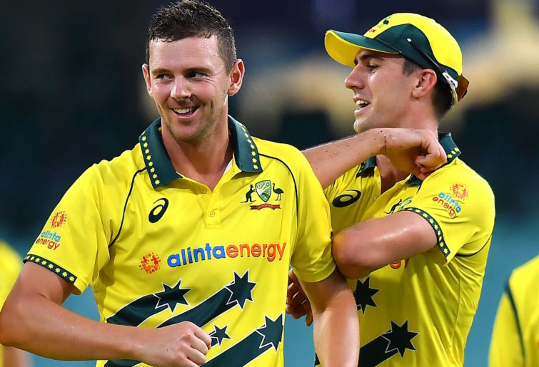 Josh Hazlewood and Pat Cummins