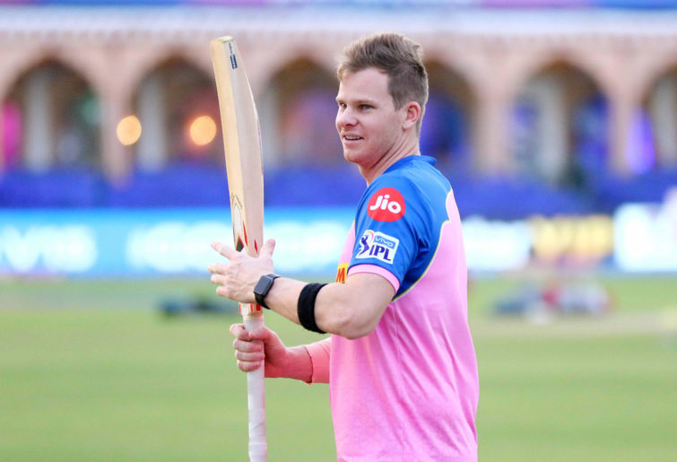 Rajasthan Royals player Steve Smith during the practice session