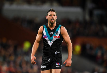 Port lights up in practice match, while a darkness falls on the Crows