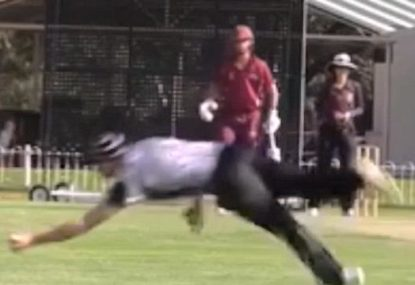 Is this the best local cricket slips catch ever?