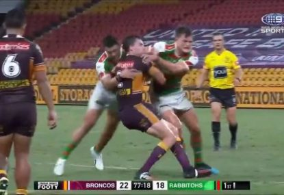 No crowd means we can actually hear this BRUTAL hit on Corey Oates