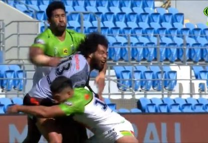 Could Sia Soliola be in strife for this high hit on Adam Blair?