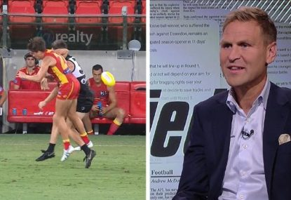Kane Cornes blasts Port Adelaide players for lack of response to ugly hit from Suns captain