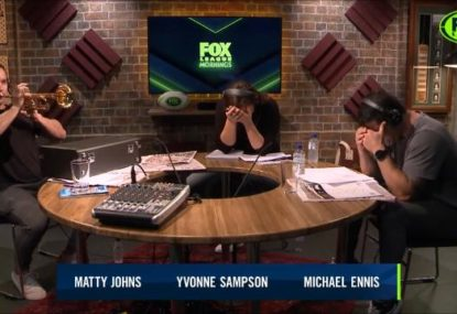 Yvonne Sampson totally loses it over Matty Johns' hysterical attempt to teach himself the trumpet
