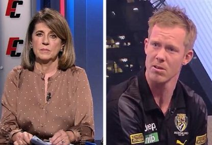 Caroline Wilson bakes Jack Riewoldt for bringing bushfire relief match into pay cut dispute