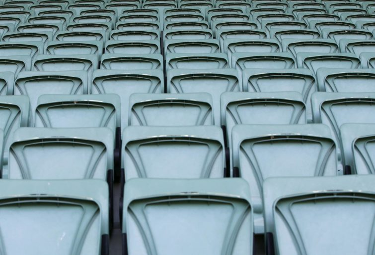 Empty seats at the MCG
