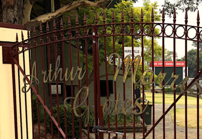The Arthur Morris gates at Hurstville Oval