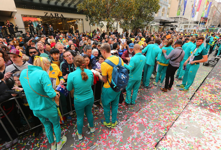 Australian Olympic parade 2016