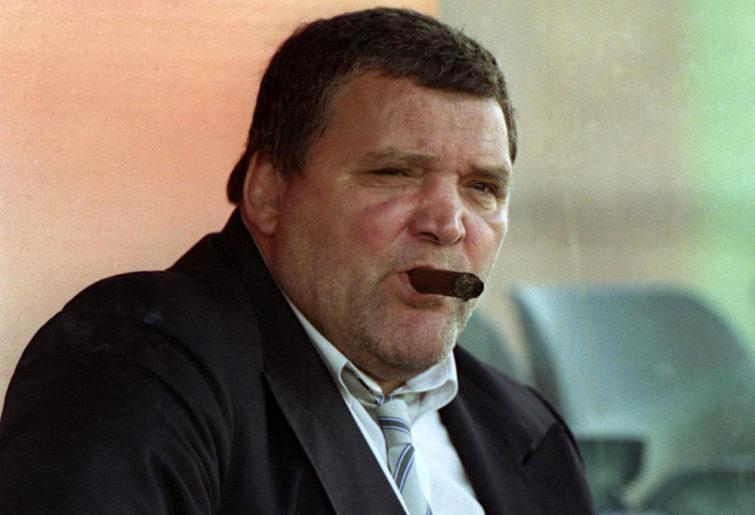 Gerard Cholley enjoys a cigar