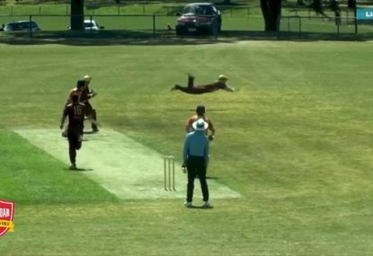 The best amateur cricket catch compilation on the internet