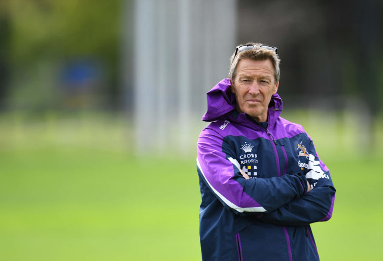 Melbourne Storm coach Craig Bellamy at training
