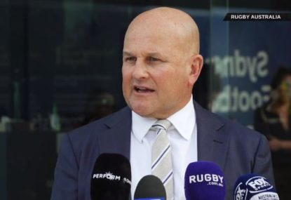 Rob Clarke's first press conference as Rugby AU interim CEO