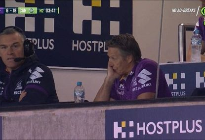 The seven stages of grief on display from Craig Bellamy in the Storm's loss