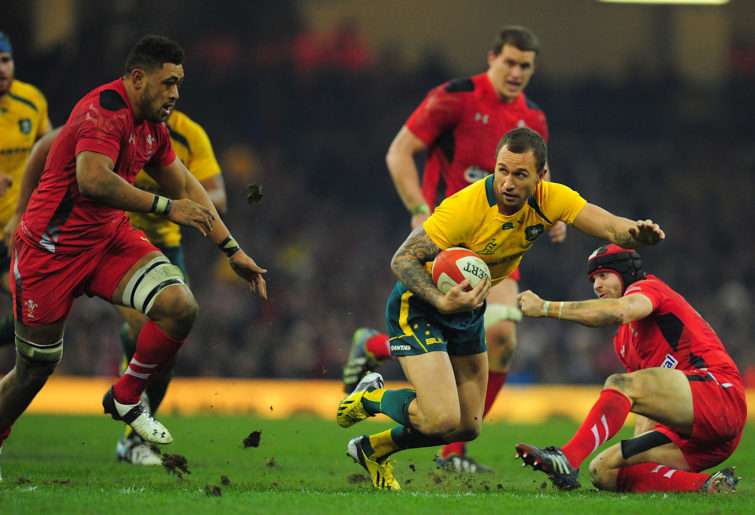 Quade Cooper in action for the Wallabies in 2013