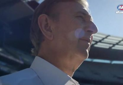 The AFL's brilliant tribute to Dennis Cometti for his Hall of Fame induction