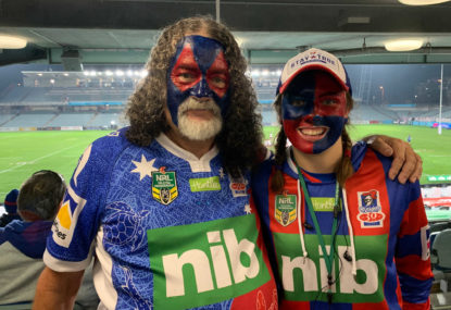 In the stands at a post-COVID NRL game