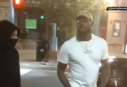 UFC star Jon Jones confronts rioters in the US