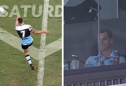 'Horrific!' This could be the worst kick of Shaun Johnson's life